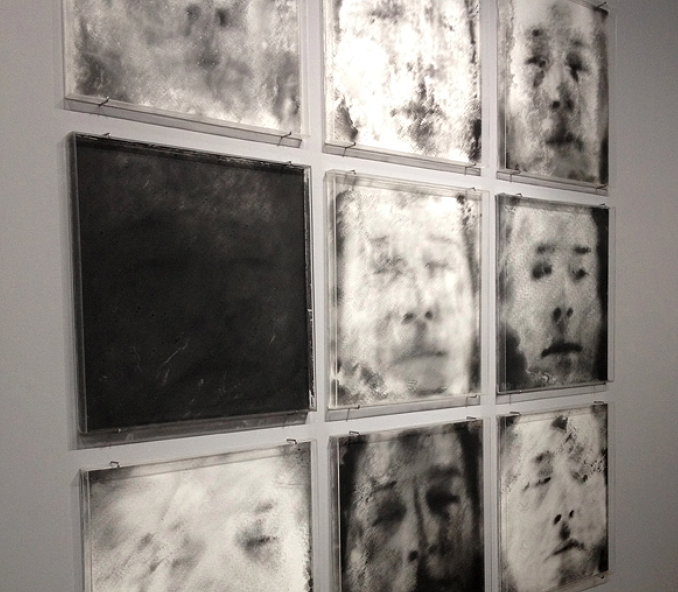 Above: Oscar Munoz, 'Photographies'.