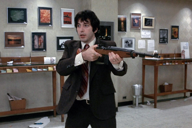 Above: Al Pacino in Dog Day Afternoon